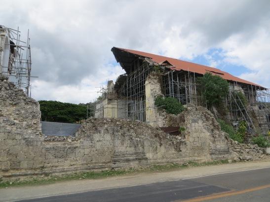 Earthquake damaged church